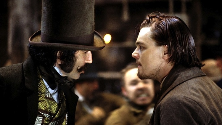 (Daniel Day-Lewis and Leonardo DiCaprio in Martin Scorsese's 'Gangs of New York')