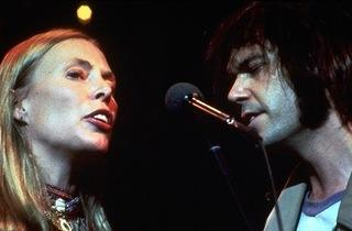 (Joni Mitchell and Neil Young in Martin Scorsese's 'The Last Waltz')