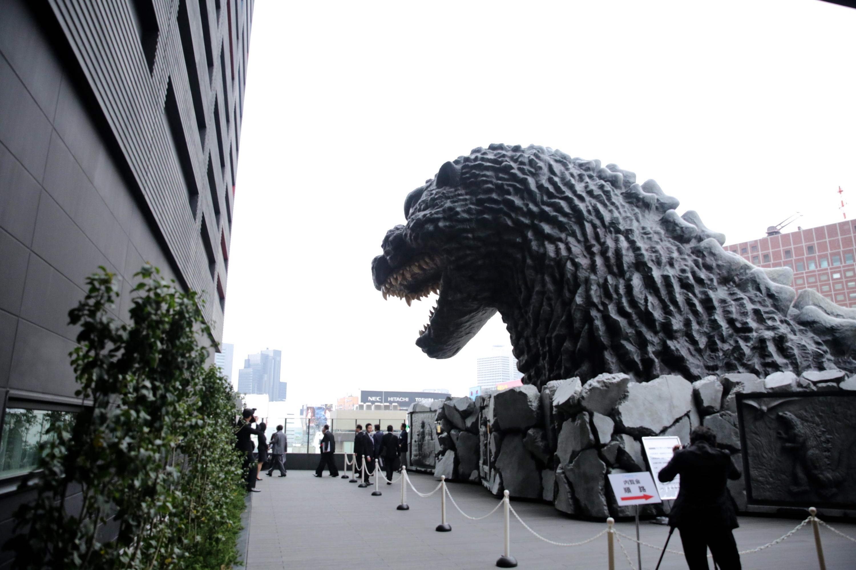 Godzilla head in Shinjuku | Time Out Tokyo