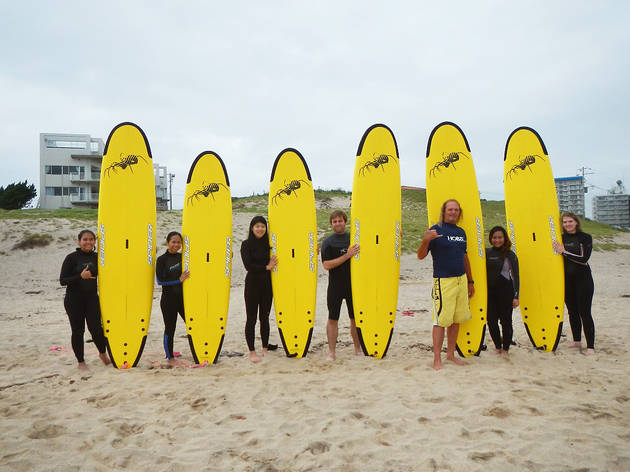 Learn to surf at Onjuku beach