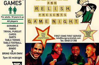 Games night at Burger & Relish | Wednesdays