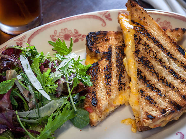 Pimento cheese and vegetarian collards sandwich at Bobwhite Lunch and Supper Counter
