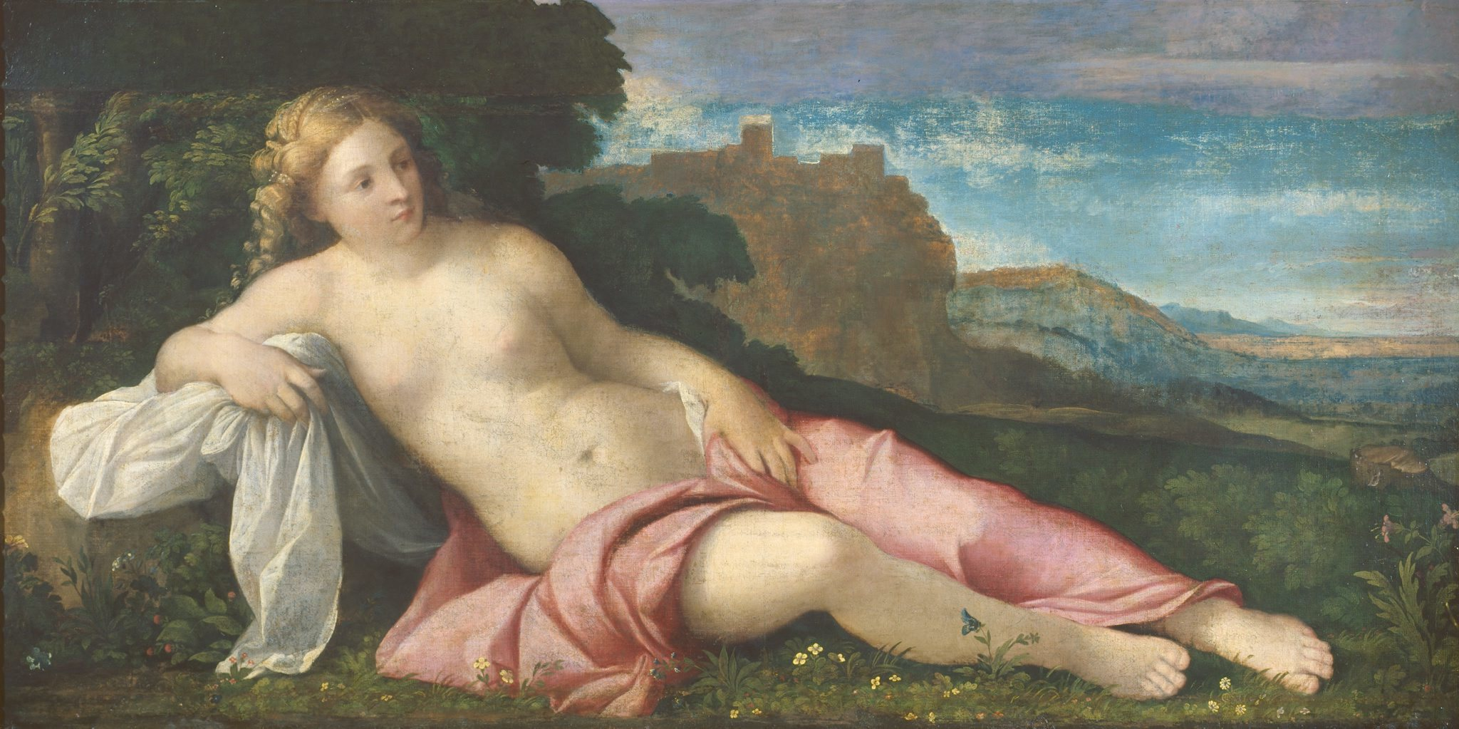 (Palma Vecchio: 'Venus in a Landscape', c1520. © The Courtauld Gallery)