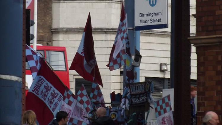 Villa Fans at Moor Street
