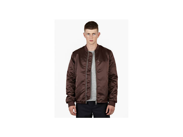 Burgundy selo bomber jacket by Acne, £420