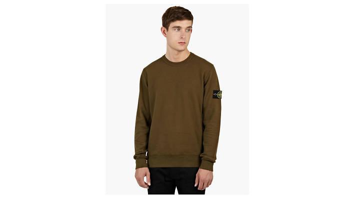 Stone Island khaki sweatshirt