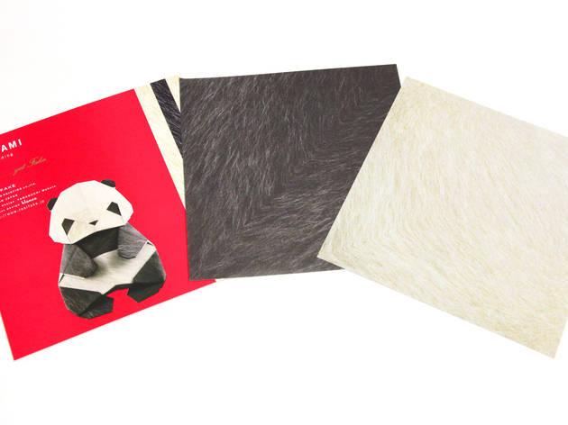リアルなパンダを折ってみる。