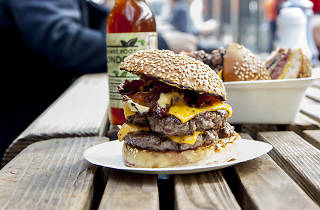 London's best burger, Bleecker St Burger