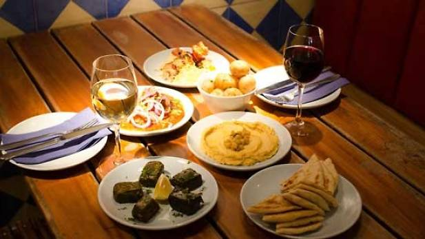Six dishes to share plus a beer, wine or soft drink for two at The Real Greek