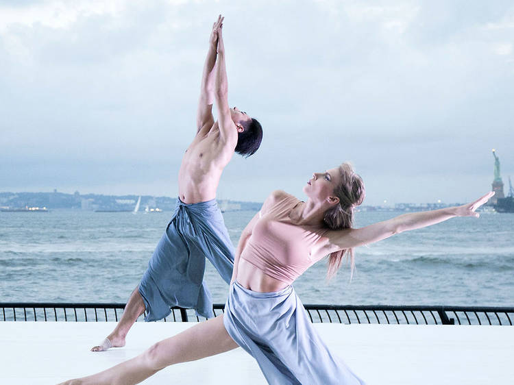 Stunning sunset images from the Battery Dance Festival
