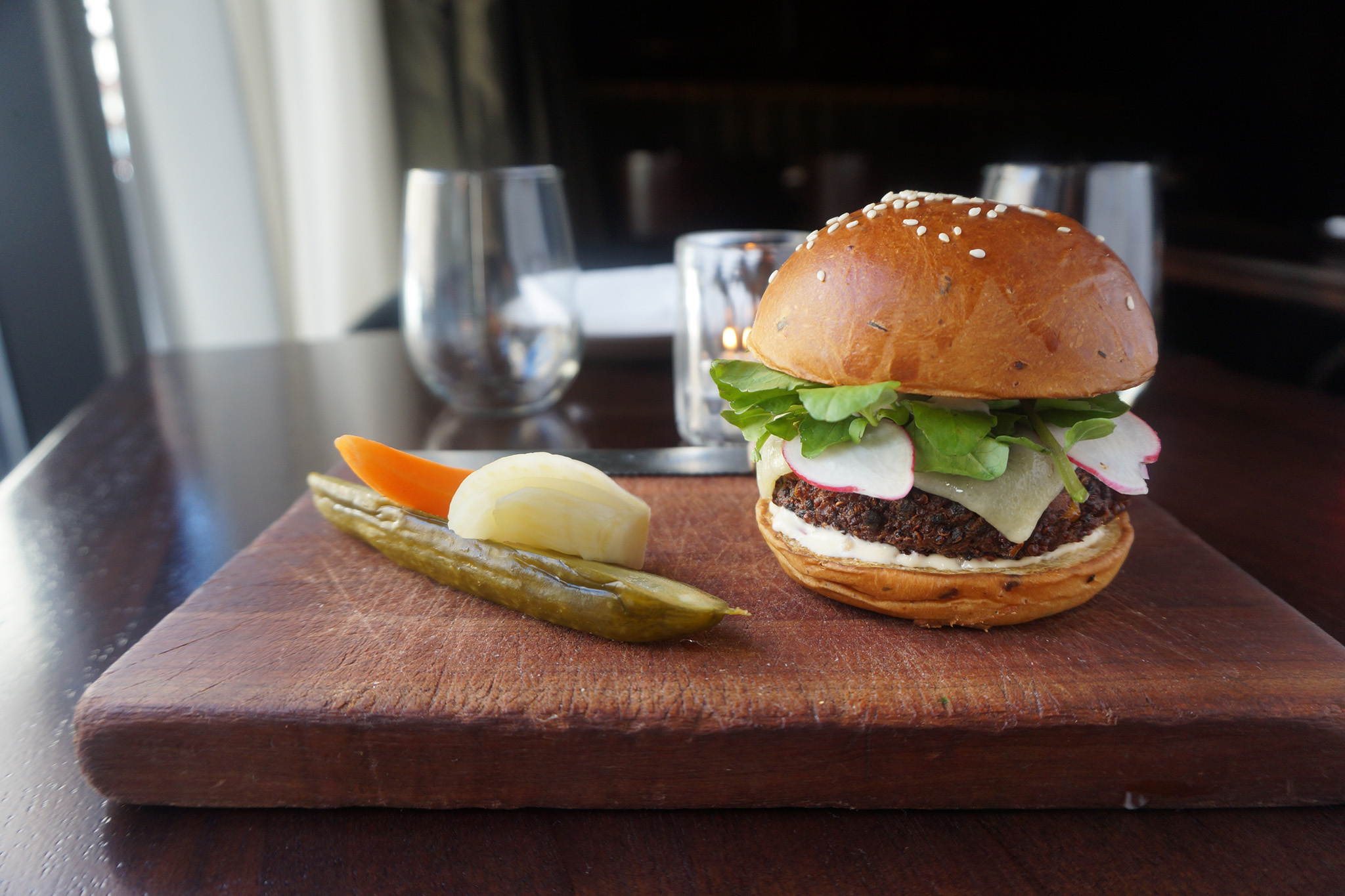 Best veggie burgers: Veggie burger at the NoMad Bar