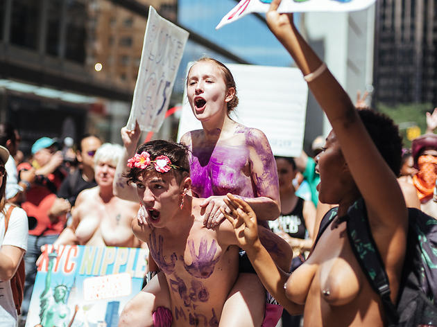 Topless marches uncensored video 8