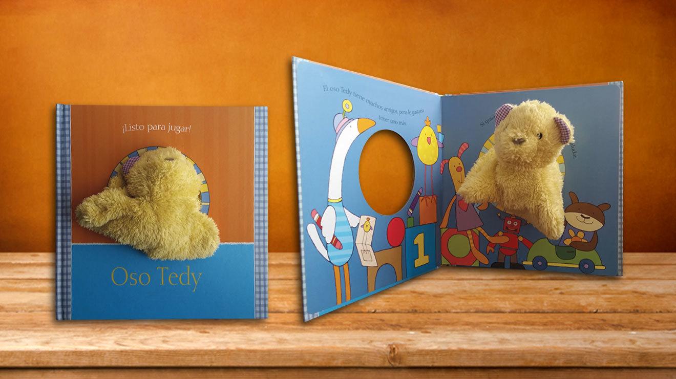 Libro para niños con marioneta