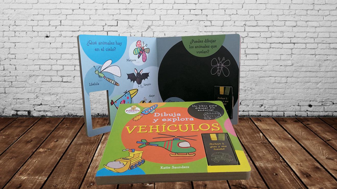 Libro para niños Dibuja y explora
