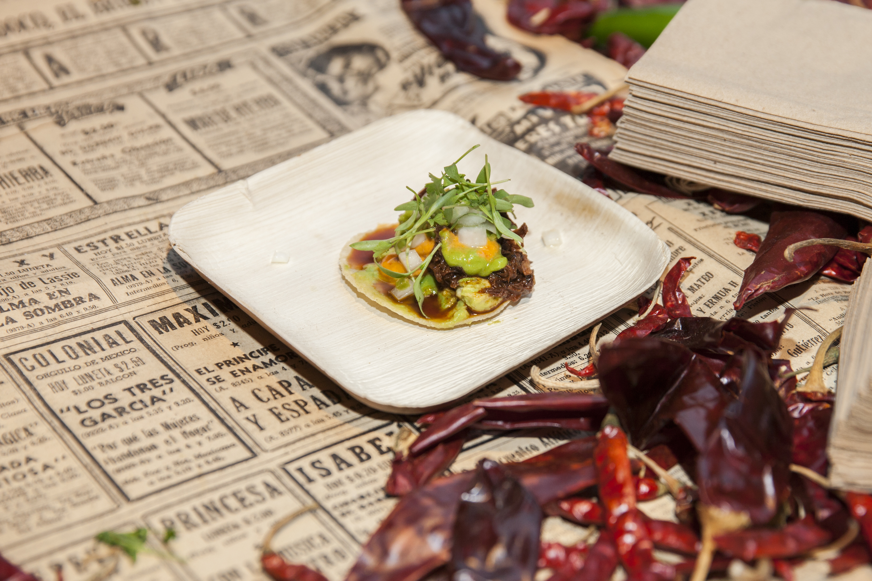 The Birria de Chivo Taco with Ancho Salsa, Escabeche by Chef Scott Baird & Trick Dog at Taco Knockdown/ Eat Drink SF