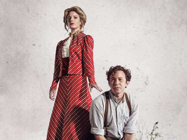 Kate Arrington and Aaron Himelstein in a promotional phot for East of Eden at Steppenwolf Theatre Company