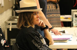 Cerys Matthews backstage at National Theatre by Dominic Brouard