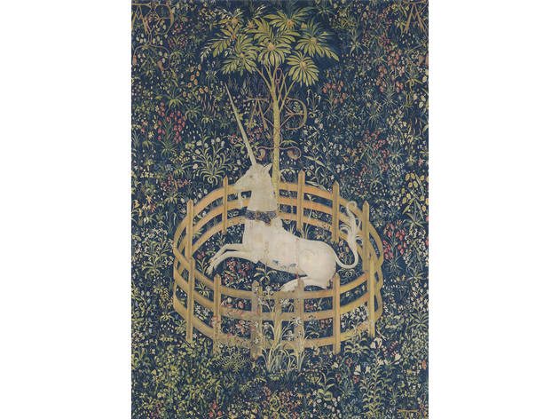 Unicorn in Captivity Tapestry, South Netherlandish, 1495–1505