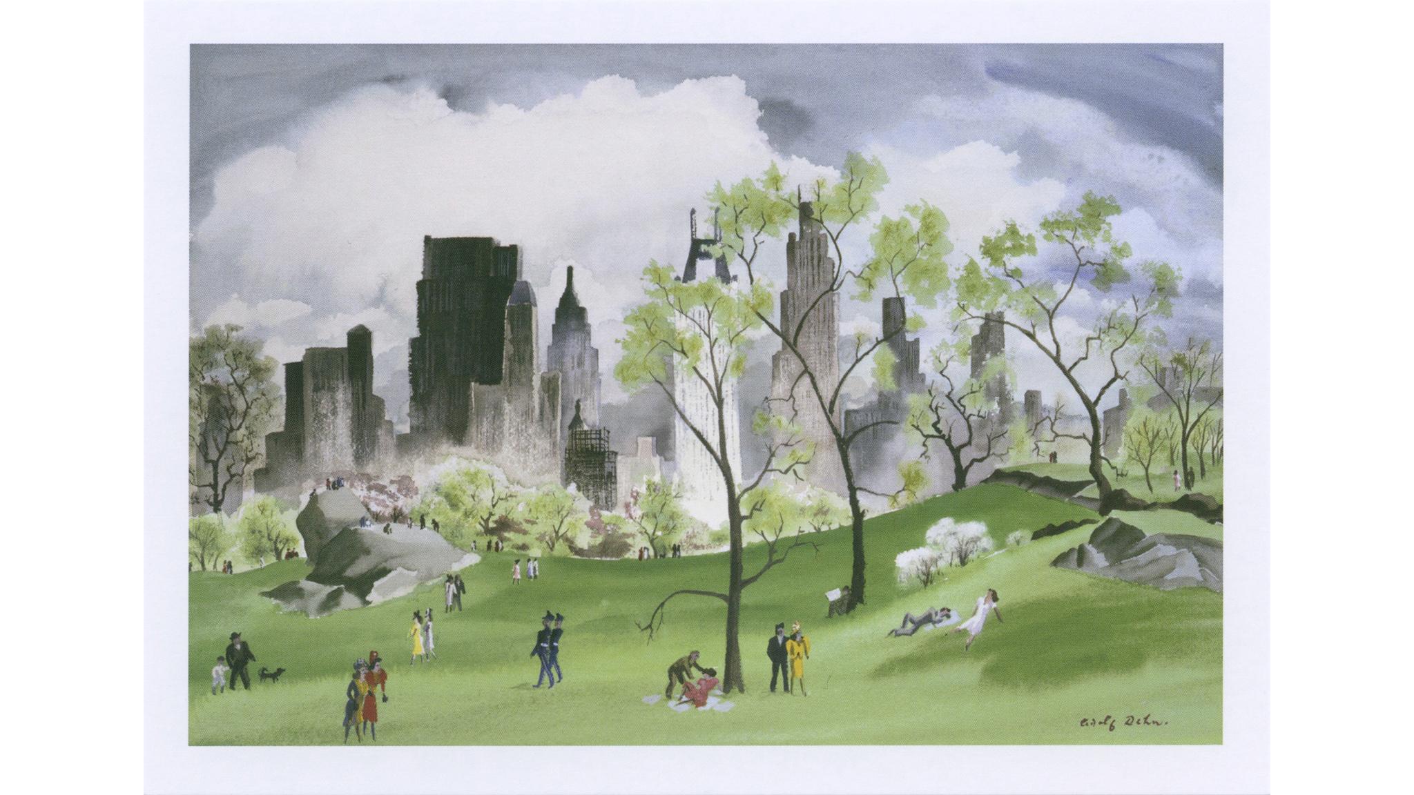 Adolf Dehn, Spring in Central Park, 1941