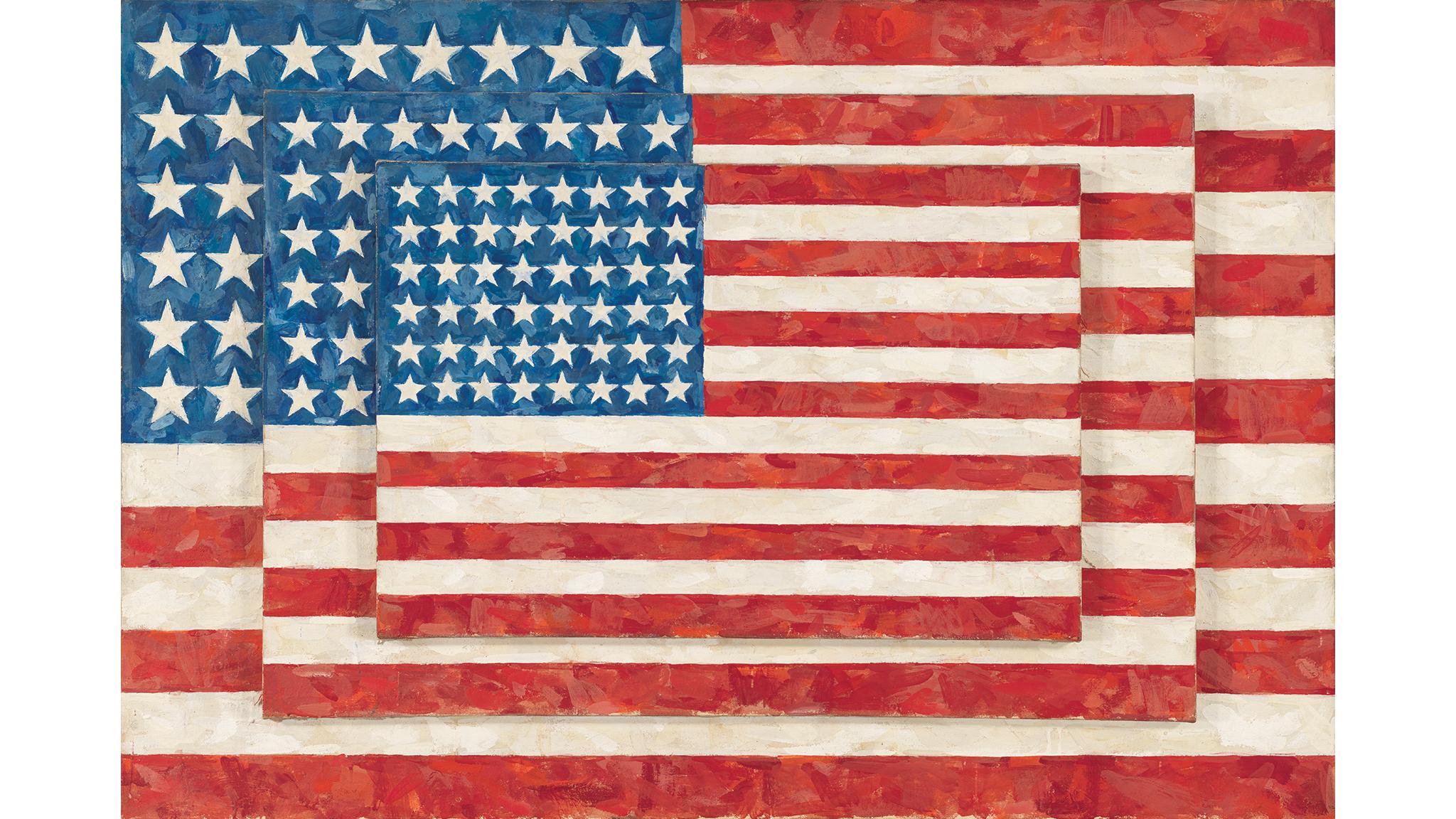 Jasper Johns, Three Flags, 1958