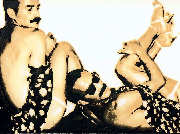 """Andy Warhol, Untitled (Halston """"Drag Party"""" Invitation –model Victor Hugo), 1970s, Silk screen on paper"""