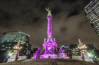 Ángel de la Independencia en la noche