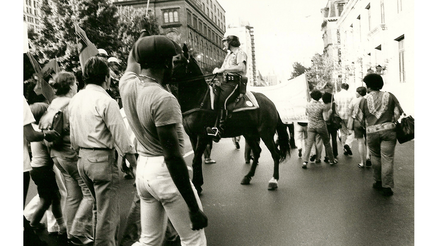 Protest on East Tenth Street, 1981