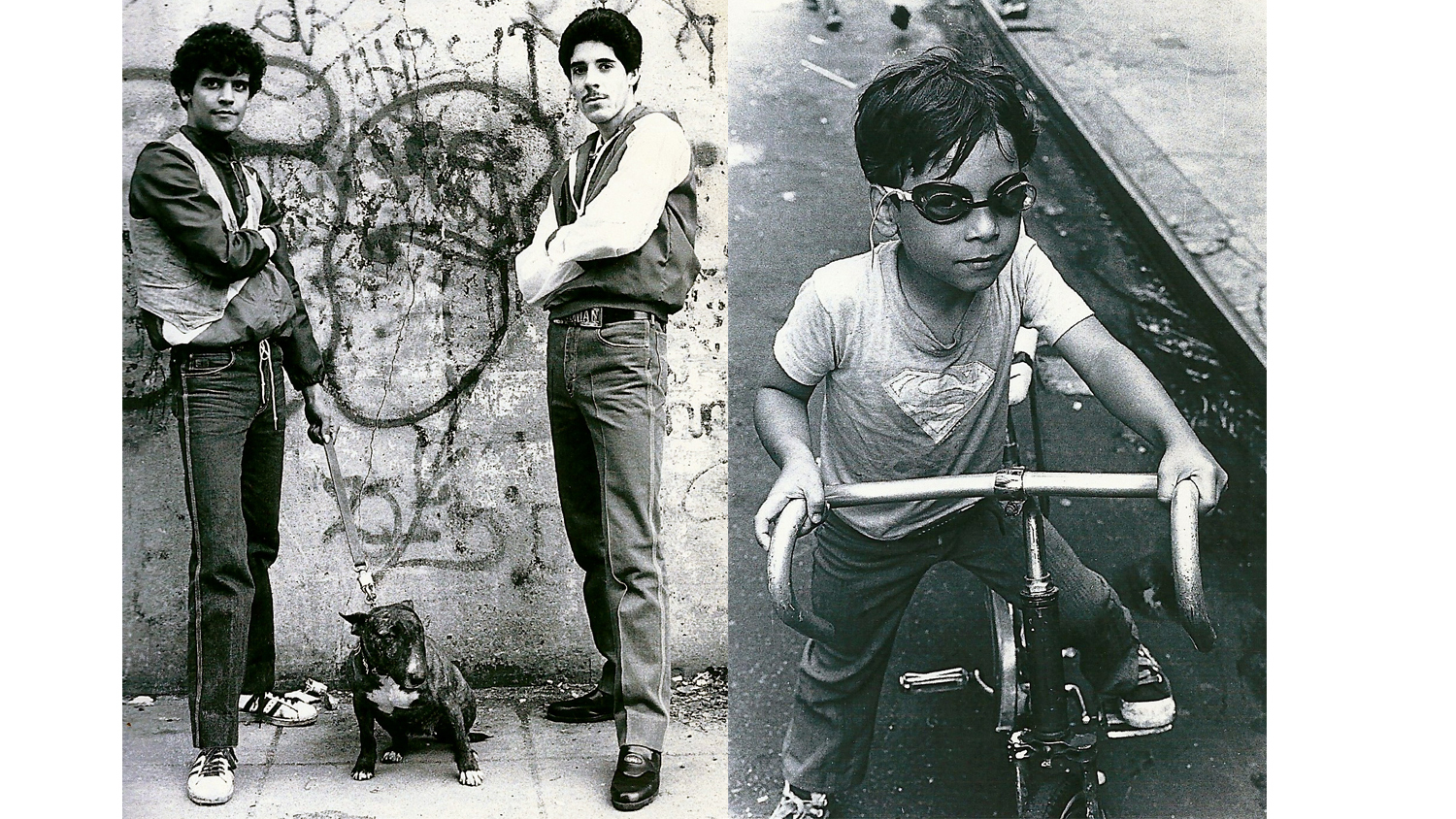 L: Locals on Avenue B, 1981. R: Losalida Boy, 1981
