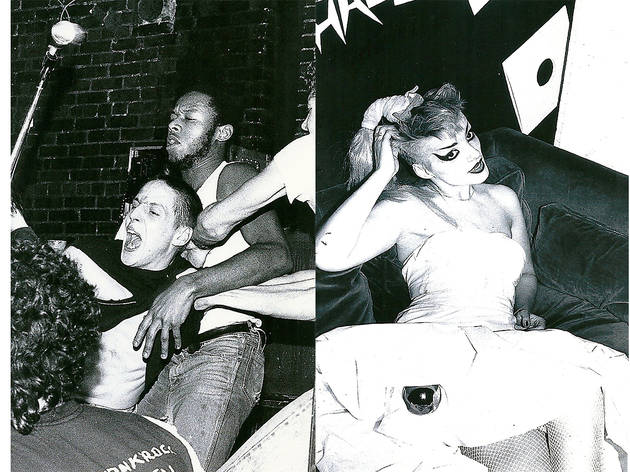 L: Inside CBGB's, 1982. R: Nina Hagen at Danceteria, 1982
