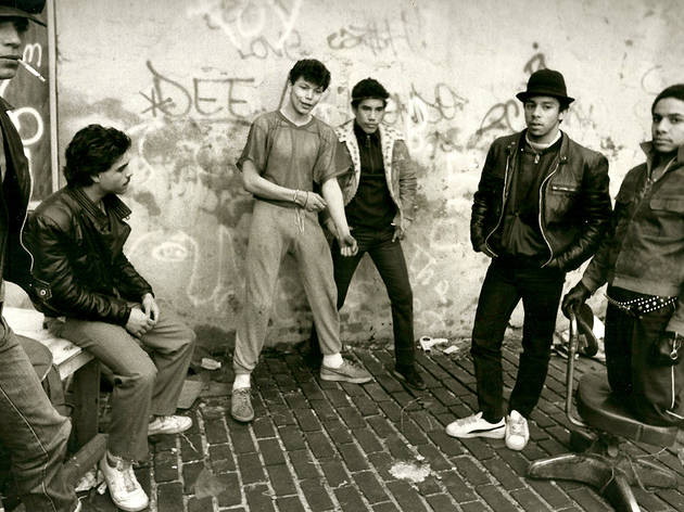 Actors from 'Mixed Blood' on Rivington Street, 1984