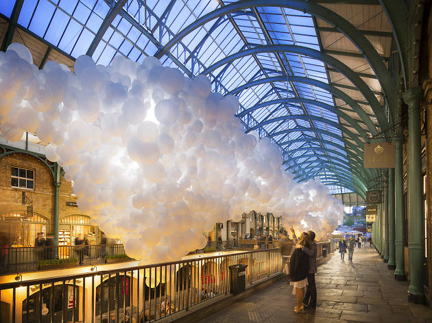 Balloon installation in Covent Garden