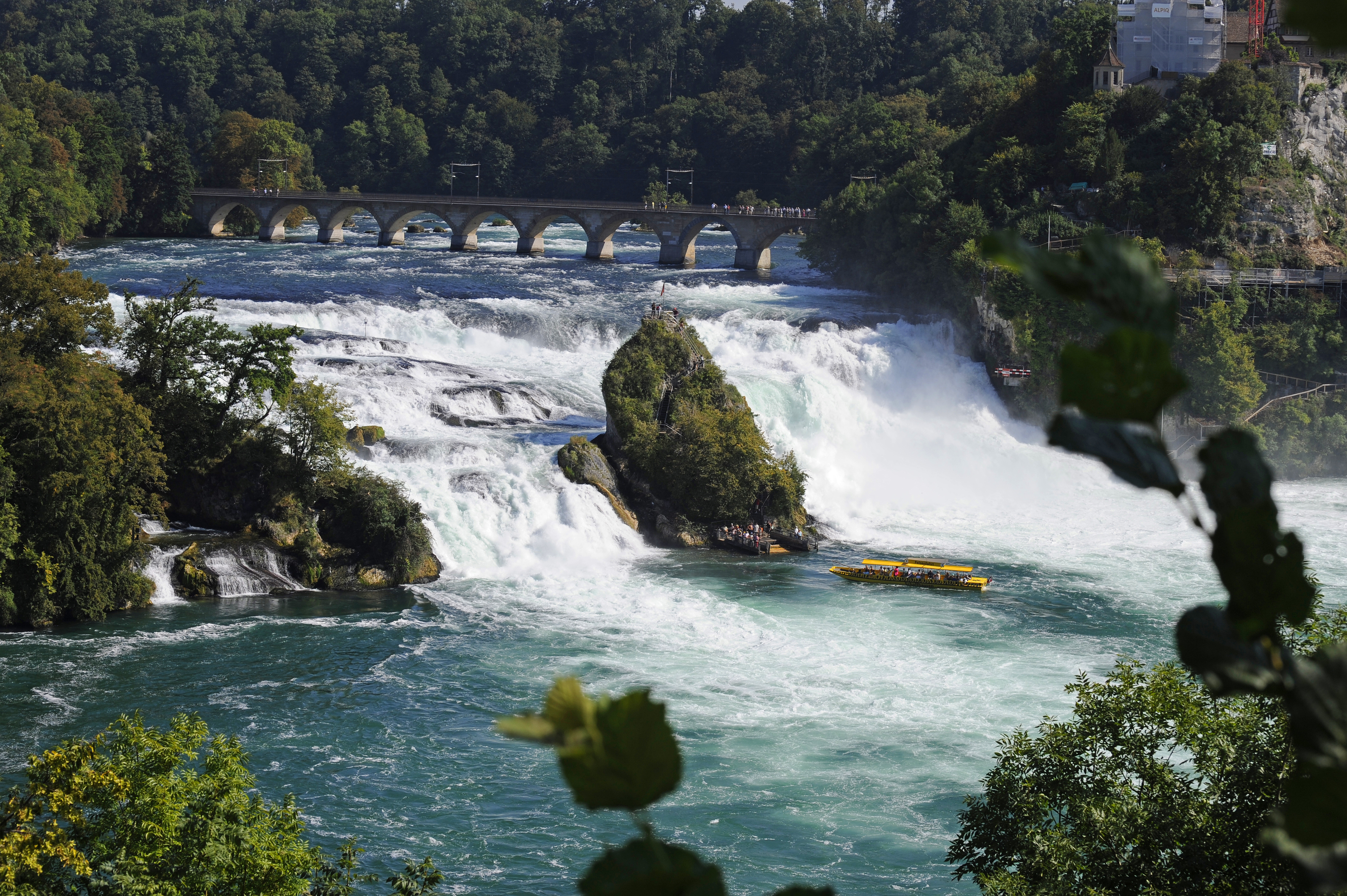 Ride into Europe's biggest waterfall