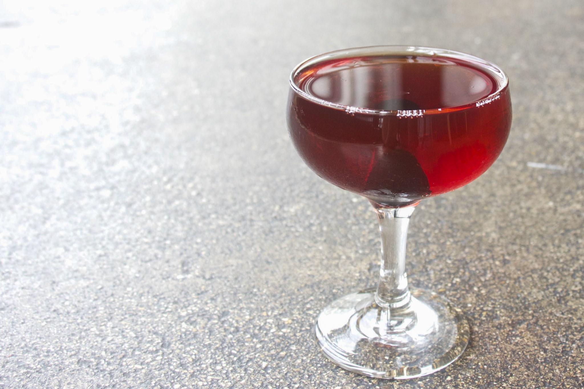 "Breakneck - Old Forester Signature Bourbon, Jammy Vermouth, Hünerkopf ""alt"" Bitter ($10)"