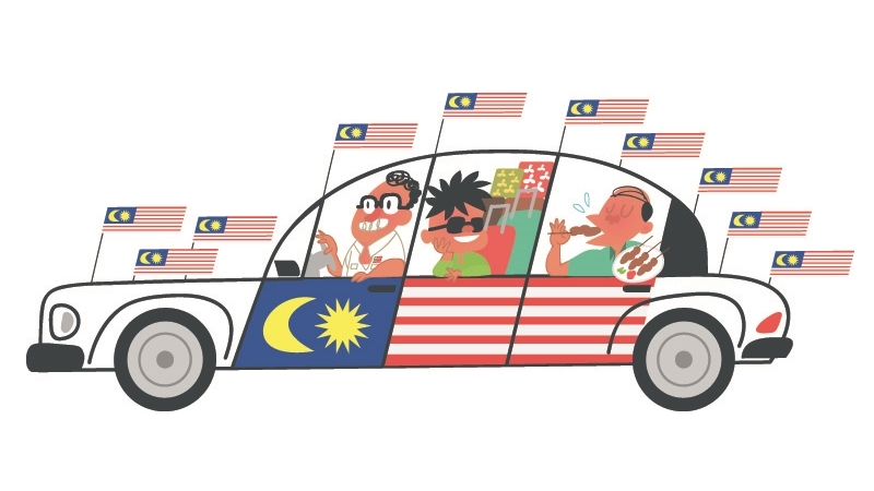 The six species of patriots during Merdeka and Malaysia Day