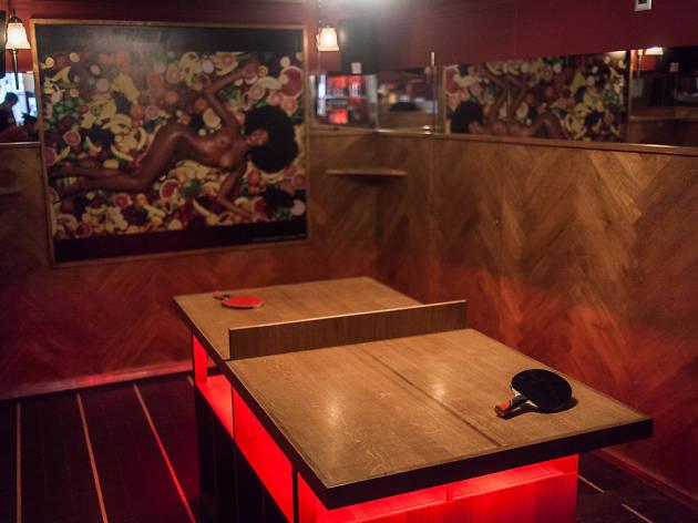 Mini pong bar à cocktails tennis de table ping pong