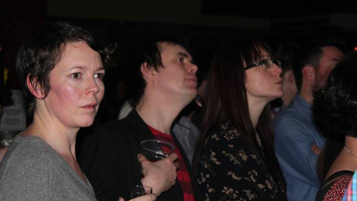Olivia Coleman and Kevin Eldon at Feeling Gloomy