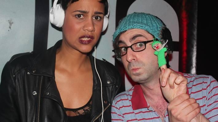 Zawe Ashton and Carl Hill at Feeling Gloomy