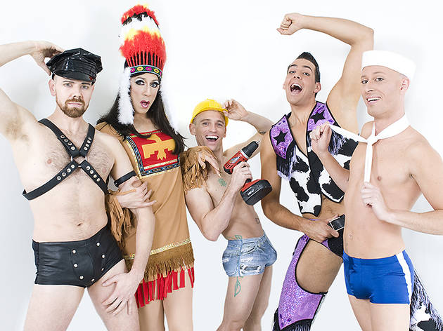 The Cast of Boys' Night: An All-Male Cirquelesque Revue