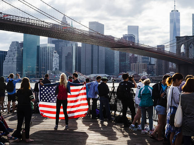 July 4, New Yorkers wait for the annual Macy's Fourth of July Fireworks