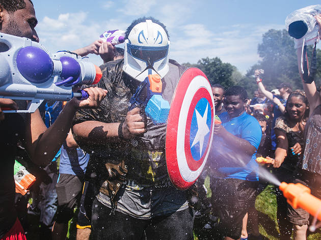 July 25, Waterfight NYC in Central Park