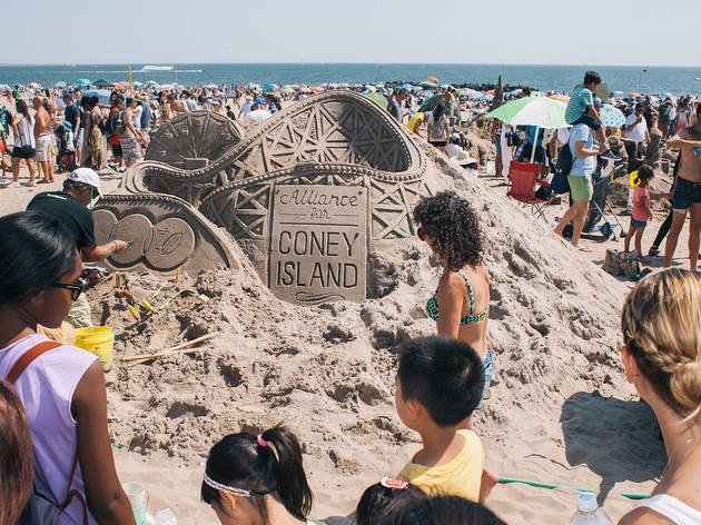 August 15, Coney Island Sand Castle Contest