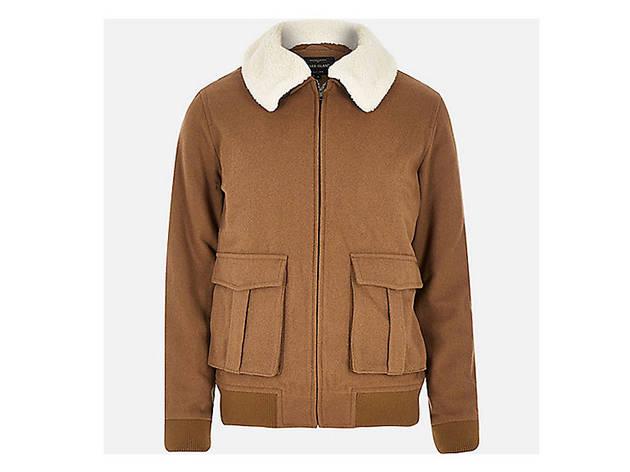 River Island Men's brown wool blend harrington jacket, $170, at us.riverisland.com