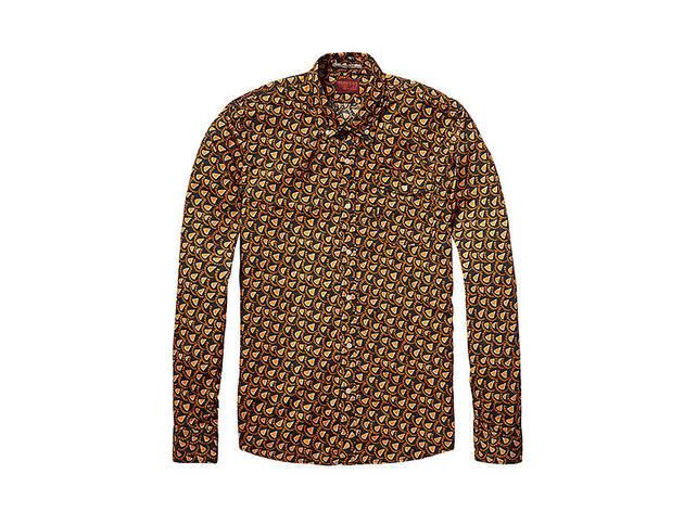 Scotch & Soda Men's retro printed shirt, $99, at scotch soda.com