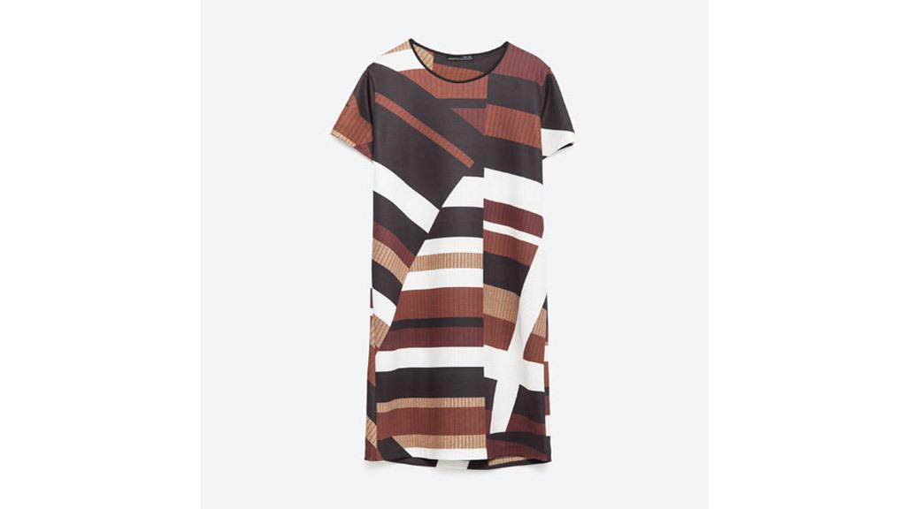 Zara dress, $40, at zara.com