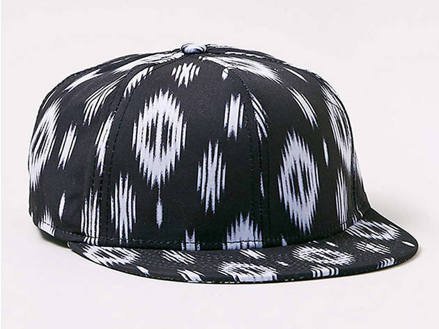 Topman black and white tribal printed snapback, $25, at us.topman.com