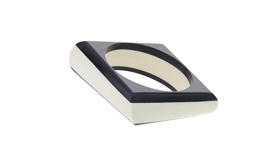 Topshop mono striped square bangle, $15, at Topshop.com