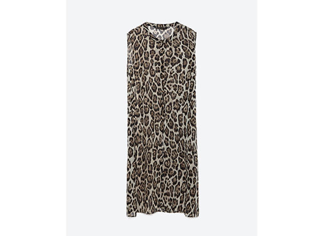 Zara printed tunic, $50, at zara.com
