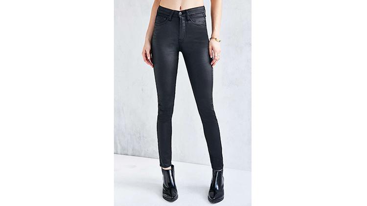 Ziggy coated black skinny jean, $79, at urbanoutfitters.com