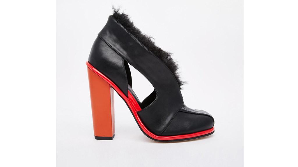 ASOS ELEMENT faux fur shoe boots, $90, at us.asos.com