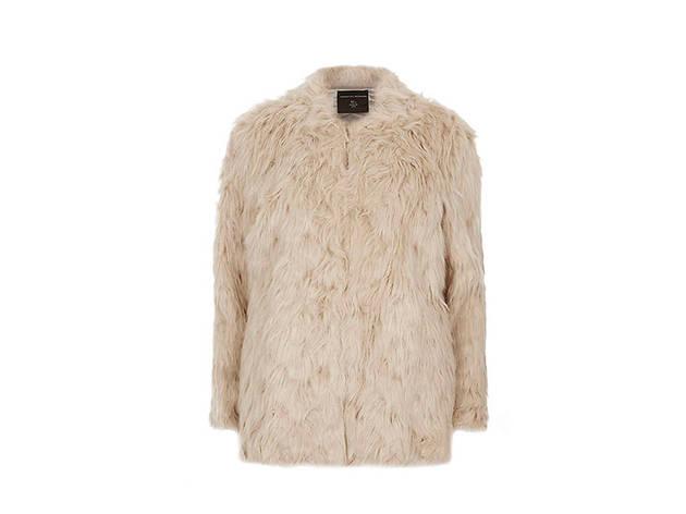 Dorothy Perkins tall biscuit faux fur coat, $78, at us.dorothyperkins.com